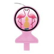 Vela Tema Flamingo