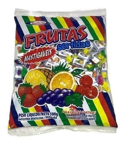 Bala Mastigável Sabor Frutas Sortidas 500 G