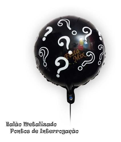 Balão Metalizado Ponto De Interrogação