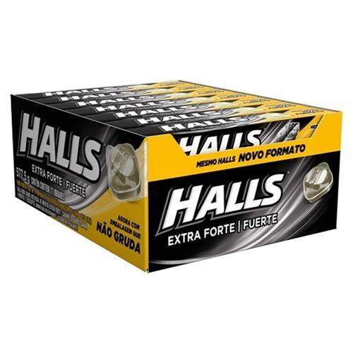 Balas Halls extra forte caixa com 21 unid de 28 g