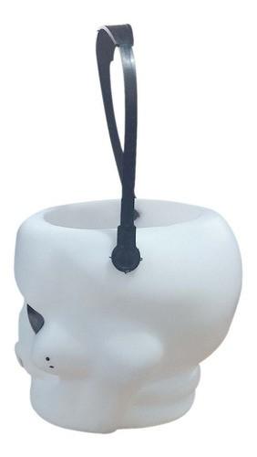 Balde Esqueleto Caveira Halloween Pequeno 6 Unidades