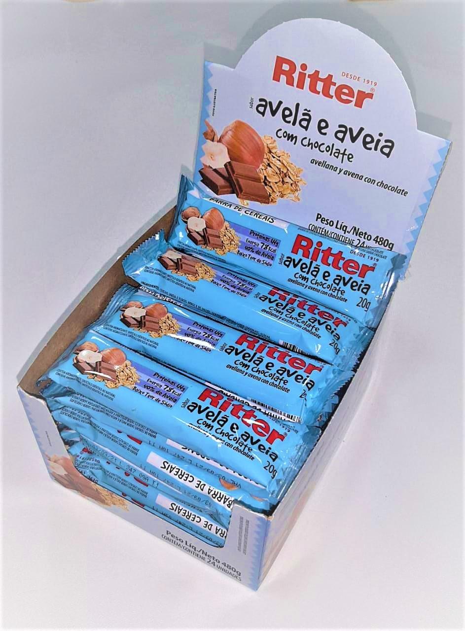 Barra de cereal Avelã e aveia com chocolate 24 unid ( Ritter )