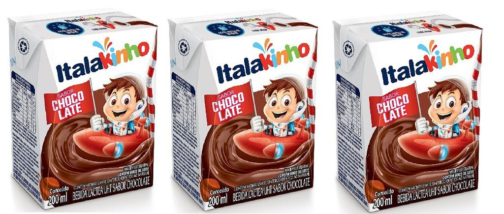 Bebida Láctea UHT Sabor Chocolate 200ml pack com 3 unid
