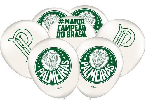 Bexiga Palmeiras Pacote Com 25 Unidades