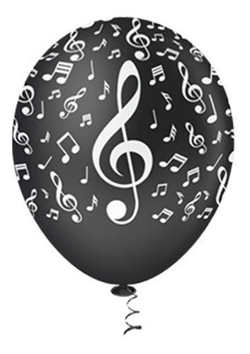 Bexigas notas musicais Branca ou preta !!!