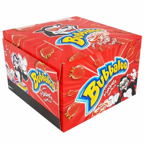 Bubbaloo Chiclete Morango caixa com 60 unid