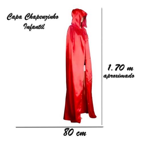 Capa Chapeuzinho Vermelho Adulto