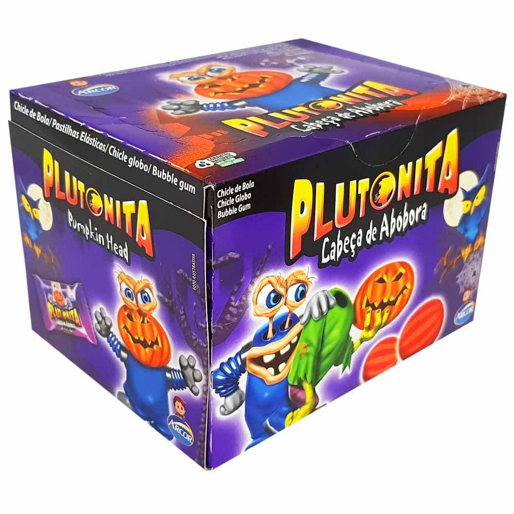 Chiclete Plutonita cabeça de abóbora Halloween 40 unidades