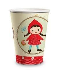 Copo Papel chapéuzinho vermelho 180 Ml