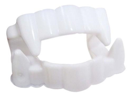 Dentadura Branca Drácula Vampiro Com 12 unidades