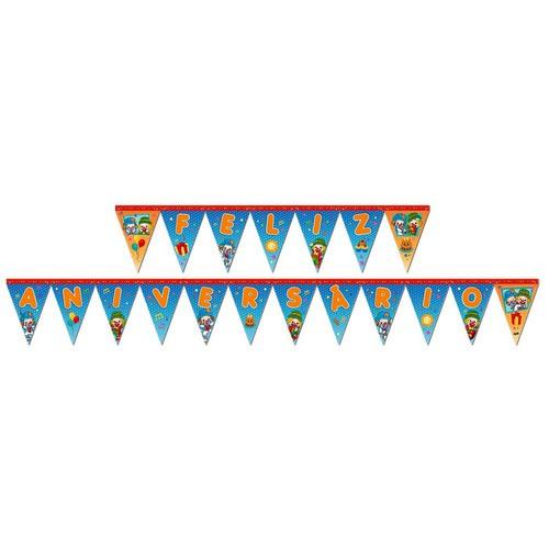 Faixa Feliz Aniversário Patati Patatá