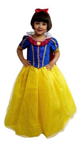 Fantasia Princesa Branca De Neve Ótima Qualidade
