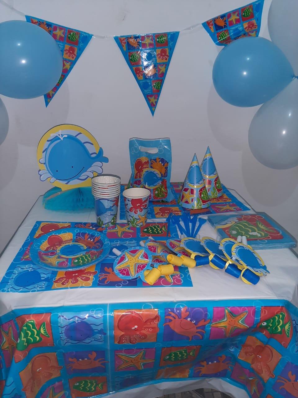 Kit festa completa fundo do mar 253 itens !!!