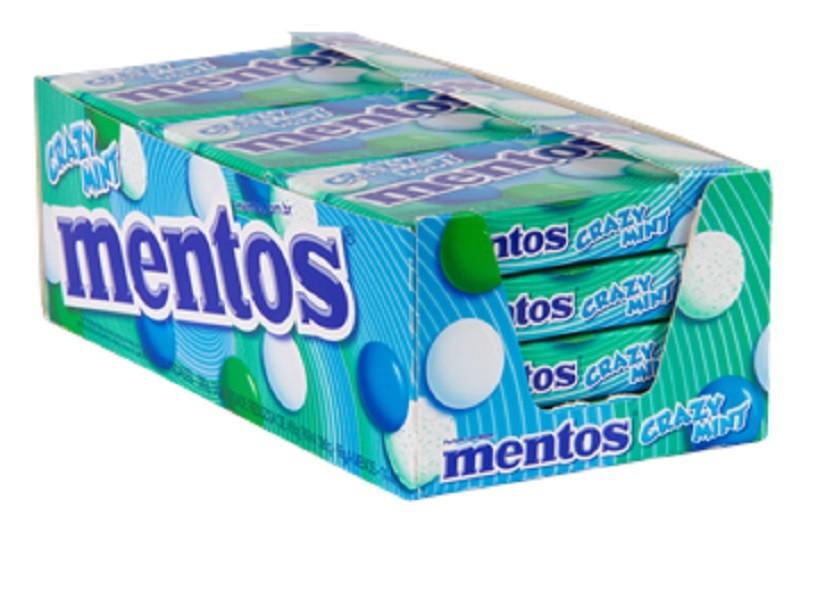 Mentos sabor crazy mint slim box caixa 12 unidades