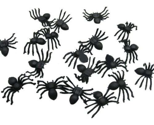 Mini Aranhas De Plástico Para Halloween C/24 Unidades