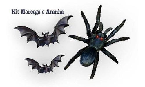 Painel Aranha C/ Morcegos 3 Unidades Halloween