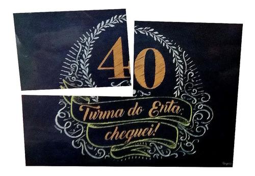 Painel decorativo Aniversário 40 Anos