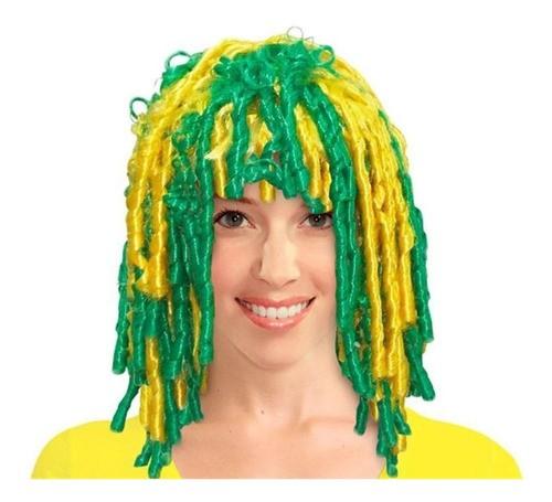 Peruca Rastafari Verde E Amarela Jogos Do Brasil