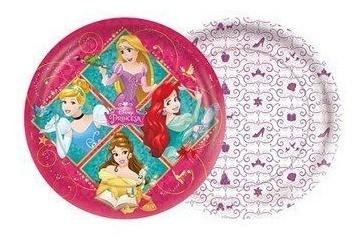 Prato Redondo Princesas Disney