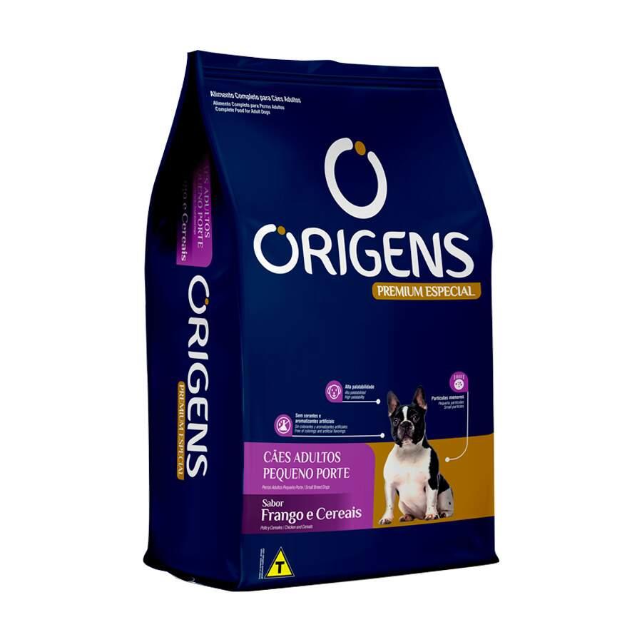 Ração Origens para cães adultos pequeno porte frango e cereais 3 kg