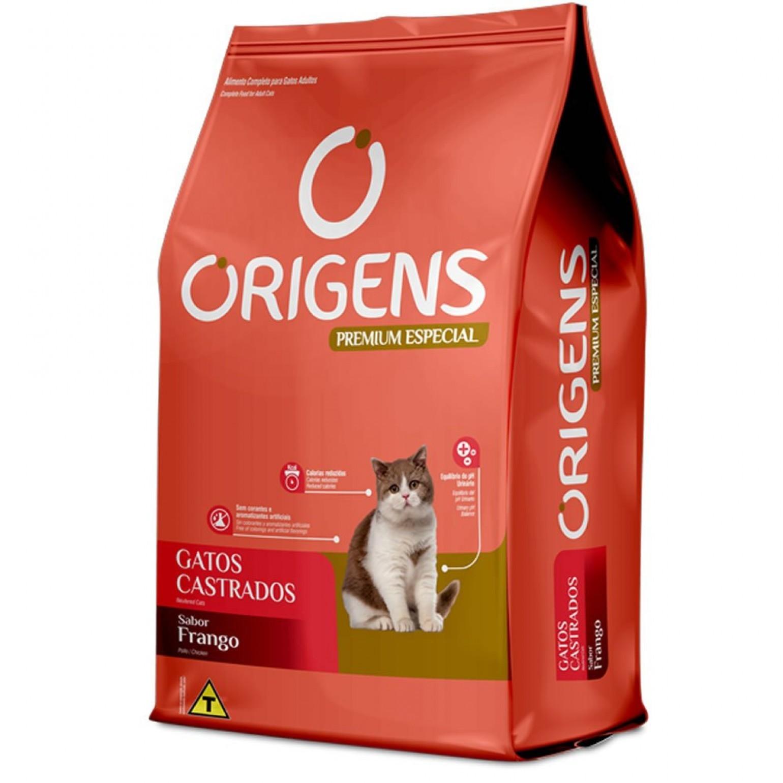 Ração Origens para Gatos castrados Sabor Frango 3 kg