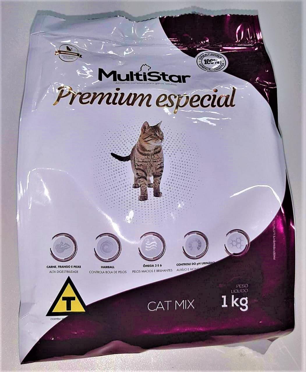 Ração para Gatos Mix Multi Star Premium Especial 1 kg