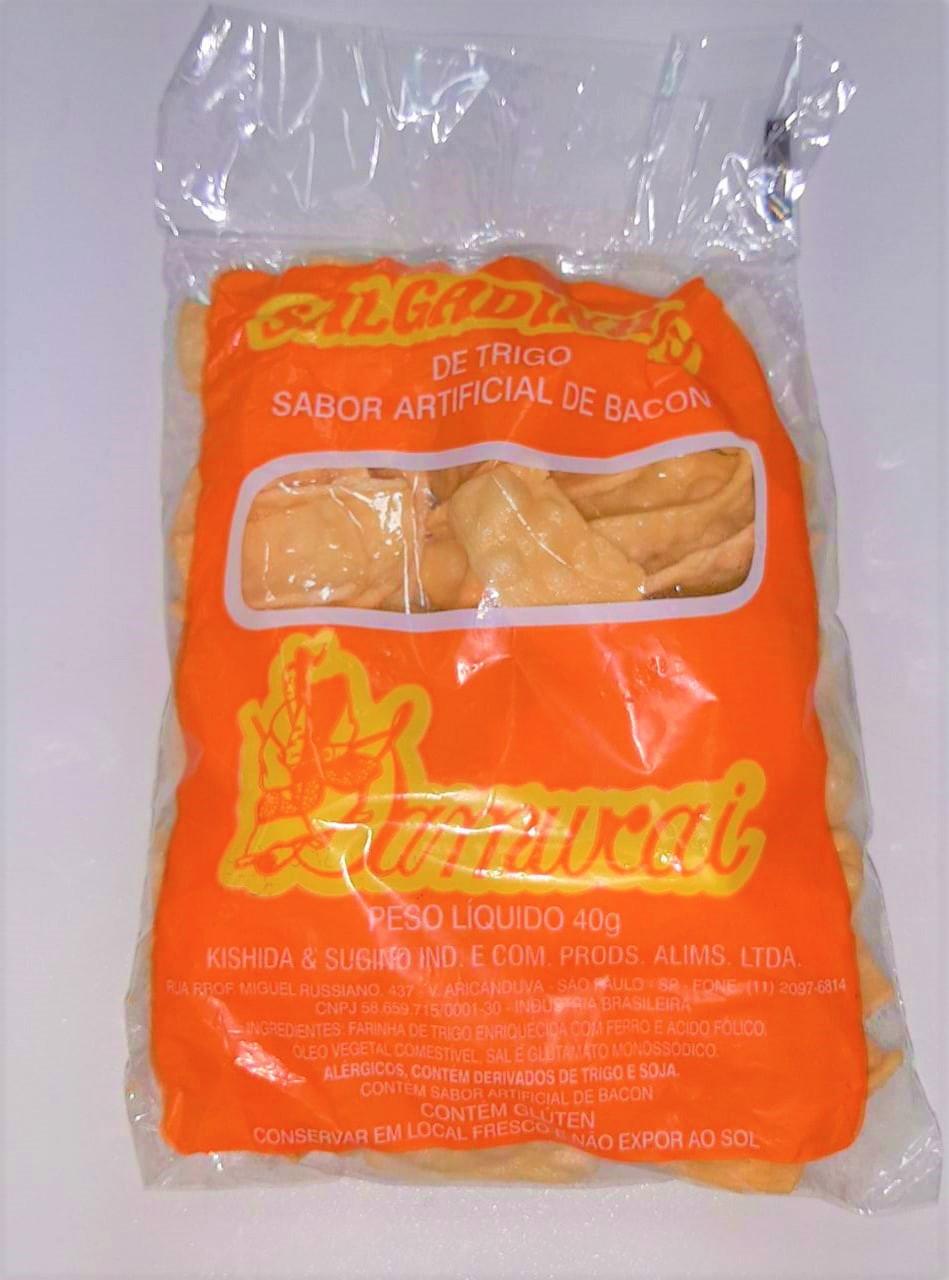 Salgadinho de trigo sabor bacon pack com 5 unidades