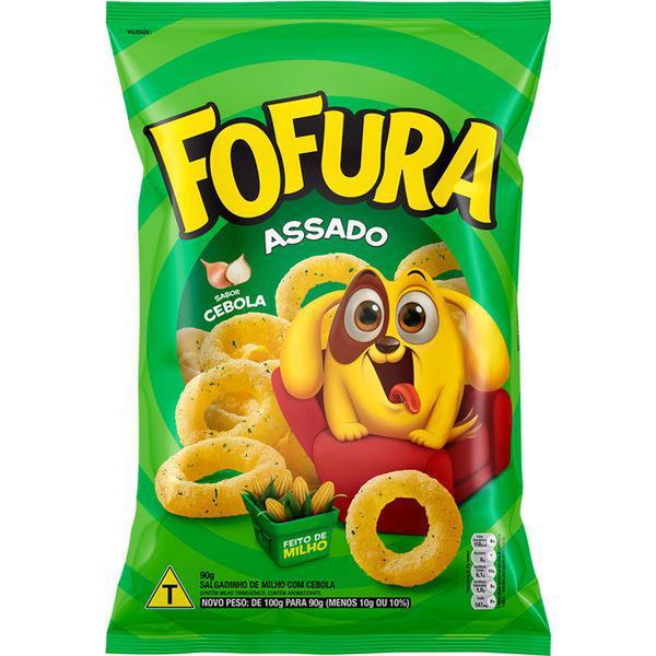 Salgadinho Fofura Sabor cebola 3 pacotes de 47 g