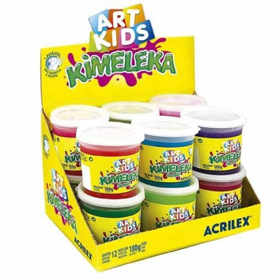 Slime Art Kids ( Acrilex ) Kimeleka 10 Unidades