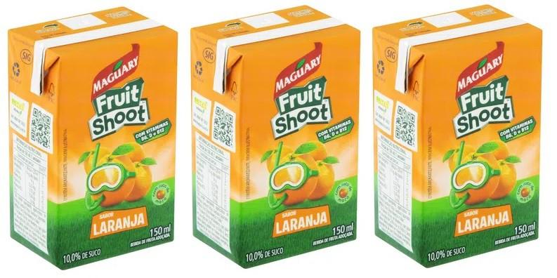 Suco Maguary Fruit Shoot Laranja 150ml Pack Com 3 Unidades