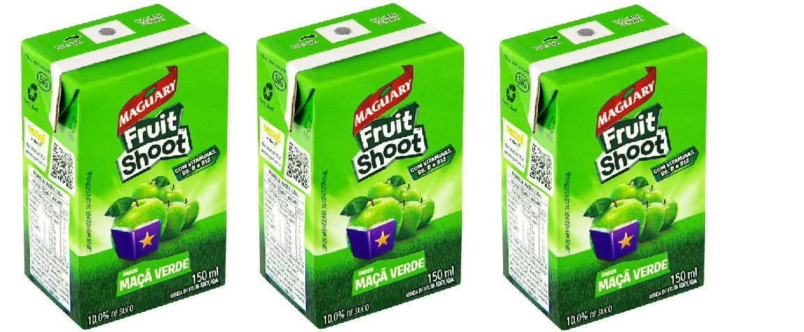 Suco Maguary Fruit Shoot Maça verde 150ml pack com 3 unid