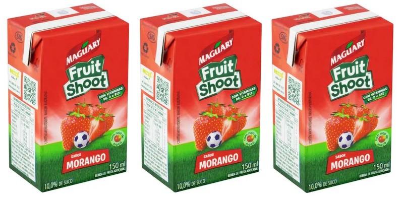 Suco Maguary Fruit Shoot Morango 150ml pack com 3 unid