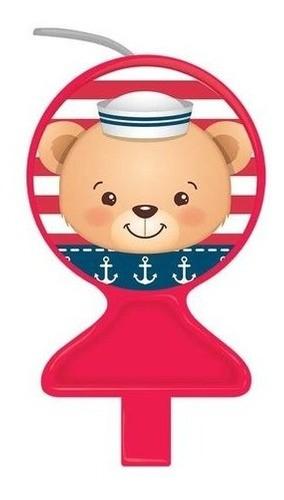 Vela Tema Urso Marinheiro Ultimas Unidades!!!