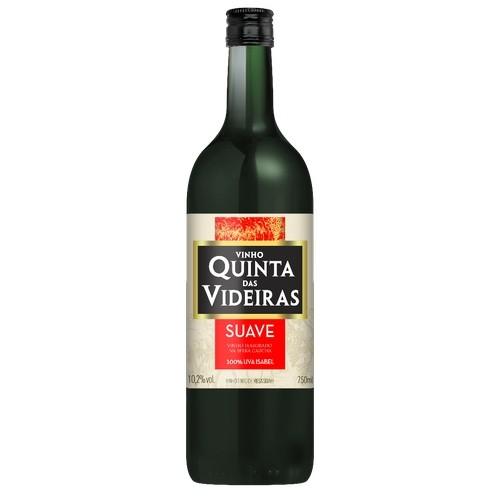 Vinho Tinto Suave Quintas das videiras 750ml serra gaúcha