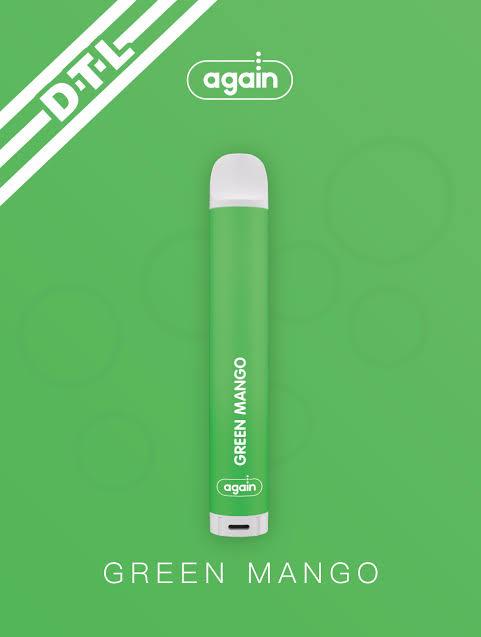AGAIN -  DTL Green Mango 2% nic 500 puffs
