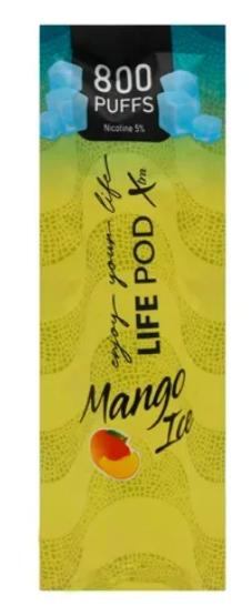 LIFE POD XTRA - Mango Ice Descartável 5% nic 800 puffs