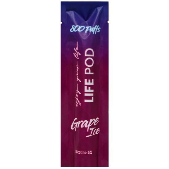 LIFE POD XTRA - Grape Ice Descartável 5% nic 800 puffs