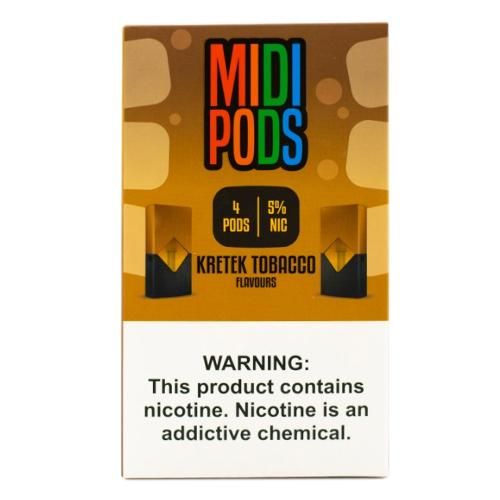MIDI PODS - Pods Compativeis com Juul - 5%  Tabacco Kretek