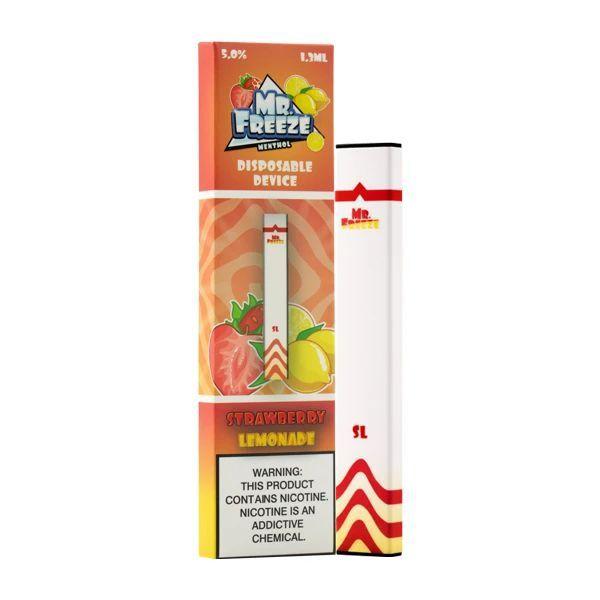 MR FREEZE - Strawberry Lemonade  Descartável (1.3ml liquido)
