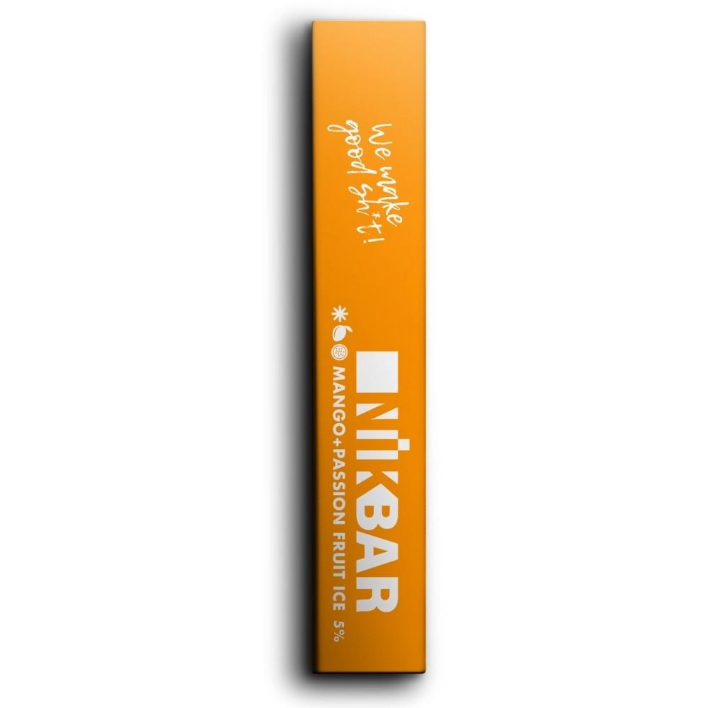 NIKBAR Passion Mango Ice - Descartável  (1,3 ml líquido)
