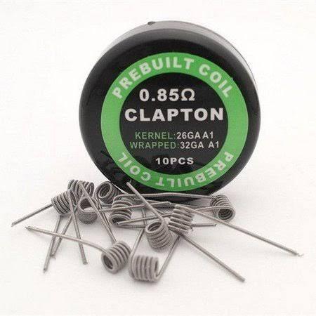 PREBUILT Coil Clapton 0.85 ohms (10 coils)
