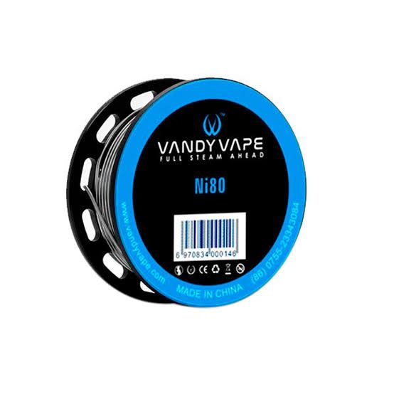 VANDY VAPE - ni80 24ga 1,64 ohms (Fio para fazer coils Clapton)