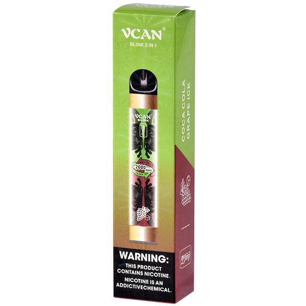 VCAN - Coca Cola e Grape Ice (2 SABORES - 2000 puffs)