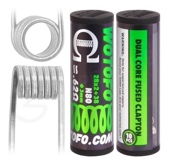 WOTOFO - Dual Core Fused Clapton N80 0.62 ohms (10 pcs)