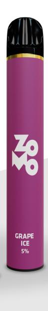 ZOMO Descartável - Grape Ice 650 puffs 5% *LANÇAMENTO*
