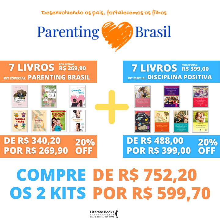 14 livros - Kit Parenting Brasil + Disciplina Positiva