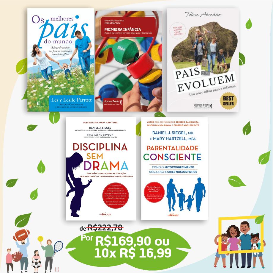 Kit 5 Livros parentalidade