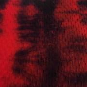Tulipa Tie Die (Vermelho + Preto)