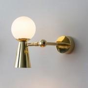 Arandela de Parede Pivô Dourada - 4Lamp