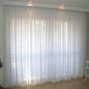 Cortina tecido - lino colors listrado e lino aireliso - KDECOR
